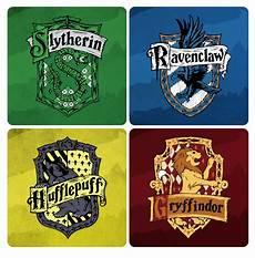 Malvorlagen Harry Potter House Harry Potter Houses Coasters Trendosaurus Organic