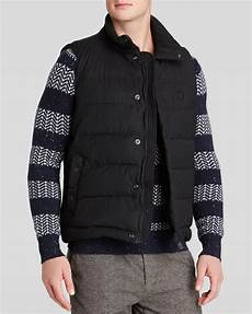 lyst scotch soda quilted vest in black for