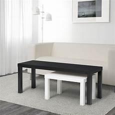 Lack Set Di 2 Tavolini Nero Bianco Ikea