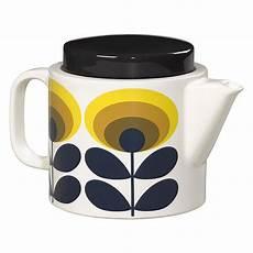 s day printable teapot 20609 orla kiely ceramic teapot in 70 s oval flower yellow print yellow teapot tea pots ceramic