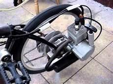 klapprad faltrad mit 2 takt benzin motor selber bauen