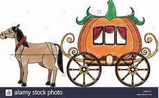 pumpkin carriage with cartoon stock vector art illustration vector image 174812396 alamy