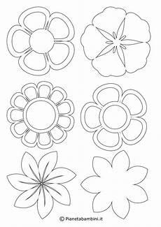 fiori da colorare per bambini sagome fiori da colorare portalebambini