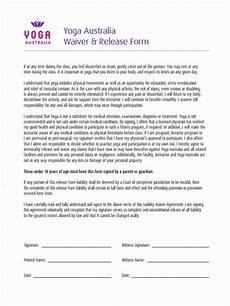 free 7 sle yoga waiver forms in word pdf