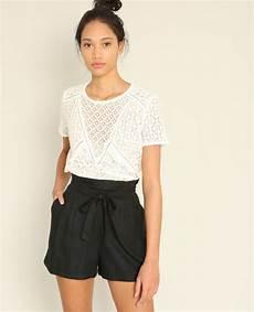t shirt en t shirt en dentelle blanc 403356905a09 pimkie