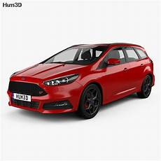 ford focus turnier st 2014 3d model vehicles on hum3d