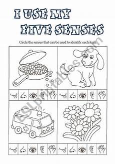 the five senses worksheets 12571 i use my five senses esl worksheet by csmada