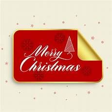 merry christmas golden sticker design free vector