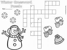 winter crossword worksheets 19981 free winter crossword puzzle for primary students snow penguins mittens january ideas