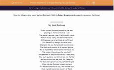read to analyse meaning my last duchess worksheet edplace