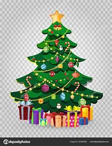 Malvorlage Tannenbaum Mit Kugeln Niedlichen Dekoriert Weihnachten Tannenbaum Mit