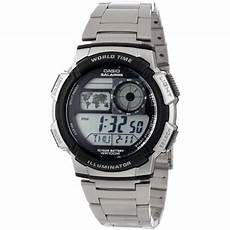 montre casio illuminator casio illuminator world time digital grey achat