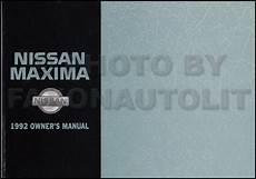 book repair manual 1992 nissan maxima auto manual 1992 nissan maxima owners manual original oem owner user guide book se gxe ebay
