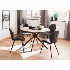 table ronde en bois de salle 224 manger style industriel