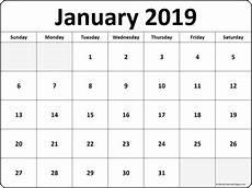 january 2019 blank calendar templates