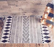 Scandinavian Handwoven Rug Aztec Block Furniture