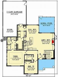 rear entry house plans plan 890078ah two bedroom modern craftsman house plan