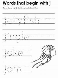 worksheets with the letter j 24549 standard block printing tracers beginning consonant sounds