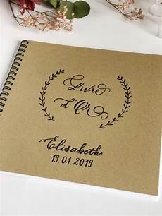 Livre D Or Anniversaire Kraft 224 Spirales Calligraphie