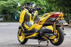 Modifikasi X Max by Modifikasi Yamaha X Max 2017 Fans Berat Bumblebee