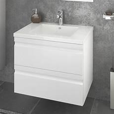 meuble sous vasque laqu 233 blanc largeur 60cm 2 tiroirs