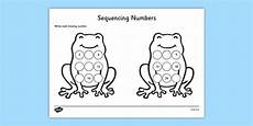 sequencing numbers frog worksheet activity sheet cfe