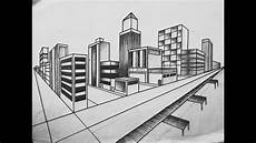 How To Draw City Landscape In 2 Point Perspective By
