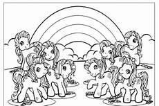 pferd mit regenbogen zum ausmalen kinder zeichnen und