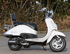 Retro Roller 50ccm Quot Atilla Quot Benero Motorroller Mofa