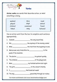 grade 3 grammar topic 13 verbs worksheets lets knowledge