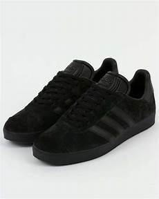 adidas gazelle trainers in all black suede adidas