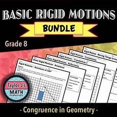 motion geometry worksheets 807 basic rigid motions worksheet bundle worksheets math 8th grade math