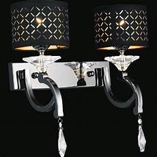 brizzo lighting stores 17 quot bello nero contemporary crystal wall sconce black chrome with shades