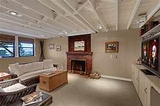 basement exposed ceiling basement pinterest can lights exposed ceilings and basement ideas