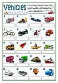 VEHICLES Worksheet  Free ESL Printable Worksheets Made By