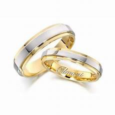 950 platinum and 18k yellow gold his hers two tone wedding band