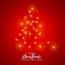 merry christmas light decoration background free vector