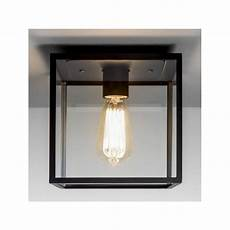 astro 7389 box 1 light outdoor flush ceiling light black