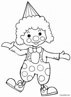 printable clown coloring pages for