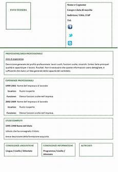 curriculum vitae per curriculum vitae funzionale modello 04
