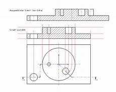 schnittverlauf in zeichnung dassault systemes plm