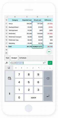 spreadsheet app for ios and android zoho sheet