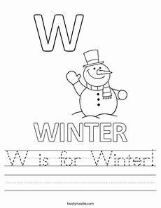 winter worksheets for pre k 19939 w is for winter worksheet twisty noodle