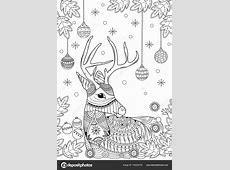 Weihnachten Rentier Malbuch Fr Erwachsene Und Kinder