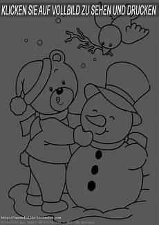 winter 14 ausmalbilder kostenlos