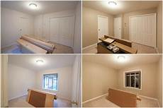 bedroom painted from light pink to warm beige colour