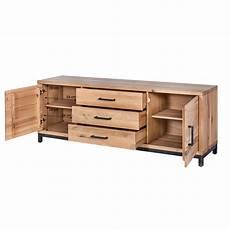 sideboard bestano 200 x 50 x 77 cm eiche massivholz