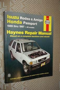 vehicle repair manual 1997 honda passport electronic toll collection buy 1989 1997 isuzu rodeo amigo honda passport service manual shop book 95 94 93 motorcycle in