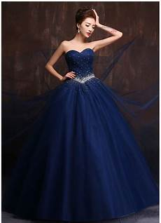custom made color and size vestidos de noiva royal blue wedding gowns navy blue wedding dress