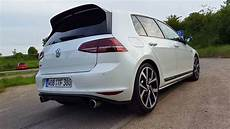 vw golf 7 gti clubsport sound acceleration